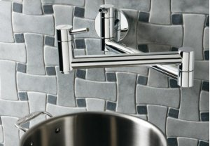 Blanco Cantata Wall Mounted Pot Filler - Polished Chrome