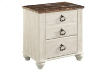 B267 Two Drawer Nightstand