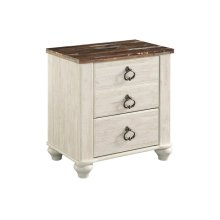 B267 Two Drawer Nightstand (Willowton)