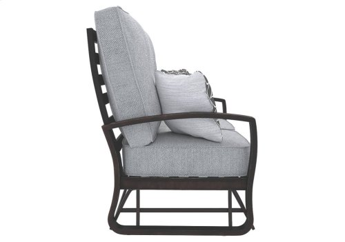 Castle Gray Patio Set -5 Piece Set Sofa, Love seat Glider, Lounge Chair, Cocktail Table, End Table