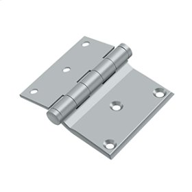 "3""x 3 1/2"" Half Surface Hinge - Brushed Chrome"