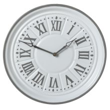 White & Grey Enamel Wall Clock.