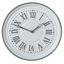 White & Grey Enamel Wall Clock.
