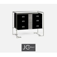 Silver Iron Chest of Drawers in Smoky Black