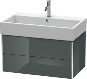 Vanity Unit Wall-mounted, Dolomiti Grey High Gloss Lacquer