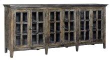 Bengal Manor Acacia Wood Large 6 Door Window Pane Sideboard