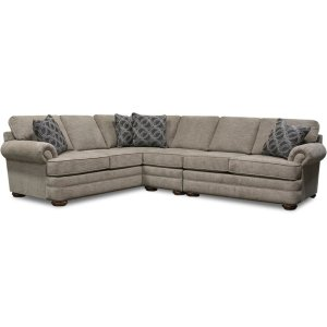 England Furniture Knox Sectional With Nails 6m00n-Sect