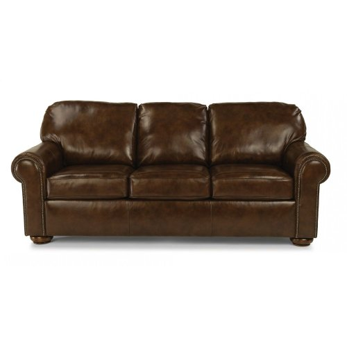 Preston Leather Sofa with Nailhead Trim