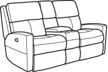 Catalina Leather Reclining Loveseat with Console