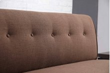 8338 Brown Armless Loveseat