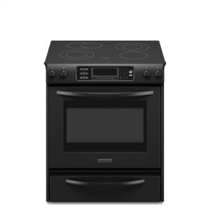KitchenAid30-Inch 4-Element Electric Slide-In Range, Architect® Series II - Black
