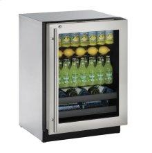 """24"""" Beverage Center Stainless Frame (Lock) Right-Hand Hinge"""