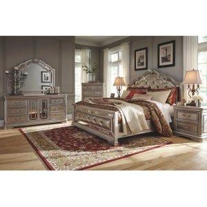 Ashley Furniture Birlanny - Silver 5 Piece Bedroom Set