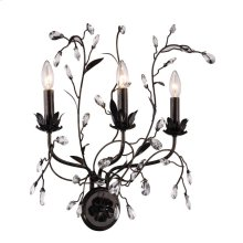 """Arbor Collection Wall Sconce W:20"""" H:21"""" E:11"""" Lt:3 Golden Dark Bronze Finish Royal Cut Clear"""