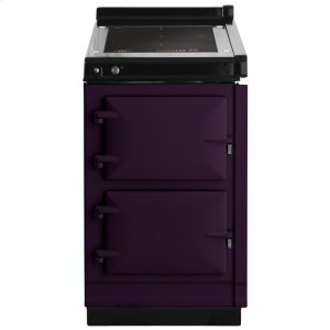 "AGAAGA Hotcupboard 20"" Induction Aubergine with Stainless Steel trim"