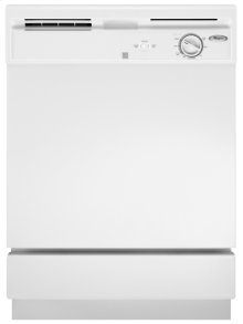 White-on-White Whirlpool® Built-In Dishwasher