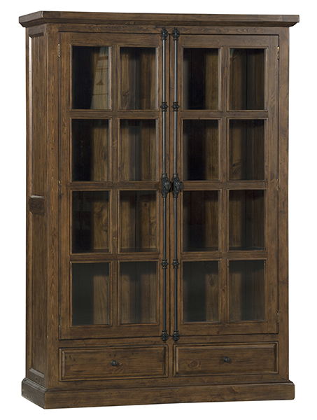 Hidden · Additional Tuscan Retreat® Double Door Cabinet (glass Front And  Two Drawers)   Antique