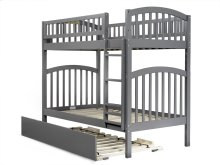 Richland Bunk Bed Twin over Twin with Urban Trundle Bed in Atlantic Grey