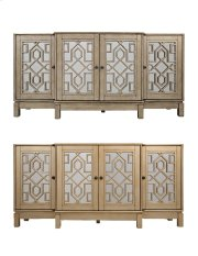 "Casa Bella Champagne Gold 70"" Mirrored Console Product Image"