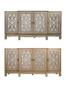 "Casa Bella Champagne Gold 70"" Mirrored Console"