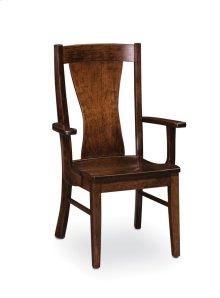 Joseph Arm Chair, Fabric Cushion Seat