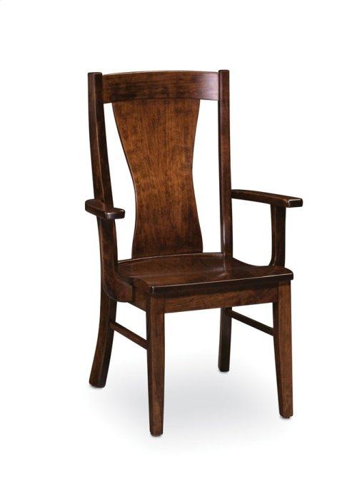 Joseph Arm Chair, Leather Cushion Seat