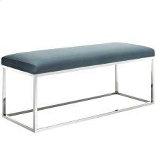 Anticipate Performance Velvet Bench in Sea Blue