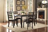 5-Piece Pack Dinette Set Table: 36 x 48 x 30H Chair: 17 x 20.5 x 38.25H Product Image
