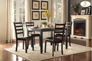 5-Piece Pack Dinette Set Table: 36 x 48 x 30H Chair: 17 x 20.5 x 38.25H