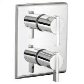 Times Square 2- Handle Thermostat Trim Kit - Polished Chrome