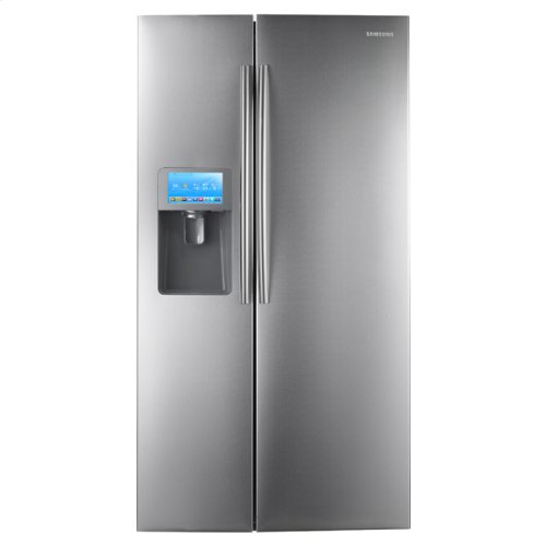 """30 cu. ft. Side by Side Refrigerator and 8"""" LCD Digital Display with Apps"""