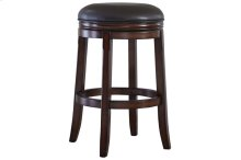 Porter Tall Upholstered Swivel Stool, Rustic Brown