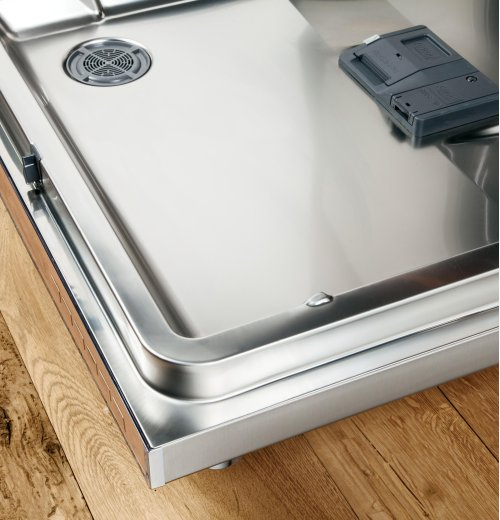 GE Profile Stainless Steel Interior Dishwasher with Front Controls