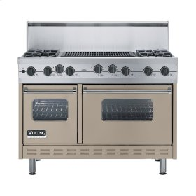 "Taupe 48"" Sealed Burner Self-Cleaning Range - VGSC (48"" wide, four burners & 24"" wide char-grill)"