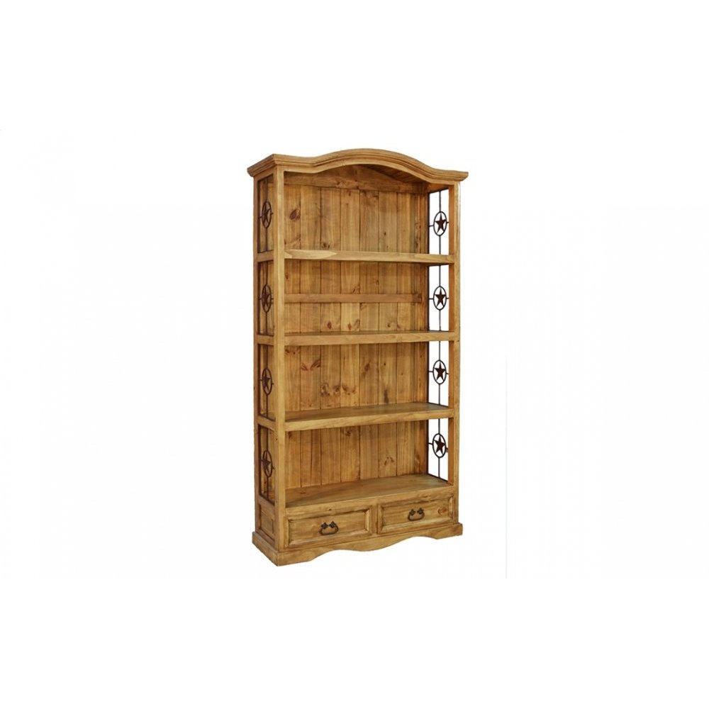 Traditional 2 Drawer Bookshelf with Stars