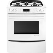 "Slide-In Gas Range with Convection, 30"", Floating Glass White"
