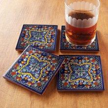 Quatrefoil Tile Coasters