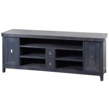 Klein  66in X 18in X 26in  Two Door Two Drawer TV Stand In Ash Veneer & Solids with Five Open Spac