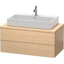 Delos Vanity Unit For Console, Brushed Oak (real Wood Veneer)