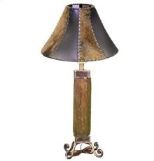 Dark Wood Wood & Iron Lamp
