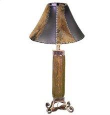 Dark Wood Wood & Iron Lamp
