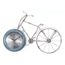 Bike Time Wall Clock Blue