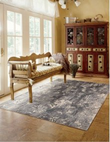 Utopia Utp10 Ivory/slate Rectangle Rug 7'9'' X 10'10''