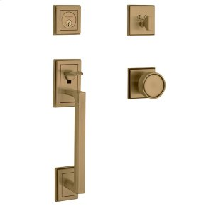 Satin Brass and Brown Hollywood Hills Sectional Handleset