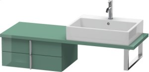 Vero Low Cabinet For Console Compact, Jade High Gloss Lacquer