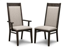 Steel City Padded Back Arm Chair in Fabric
