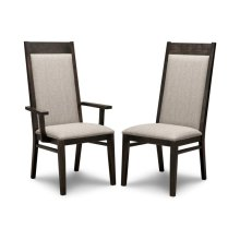 Steel City Padded Back Side Chair in Fabric