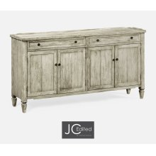 Rustic Grey Four Door Sideboard