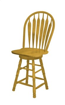 "Sunset Trading 24"" Comfort Barstool in Light Oak - Sunset Trading"