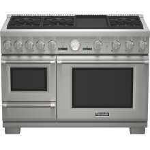 "48"" Professional Series Pro Grand Commercial Depth Dual Fuel Steam Range"